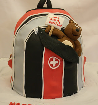 backpack birthday cake